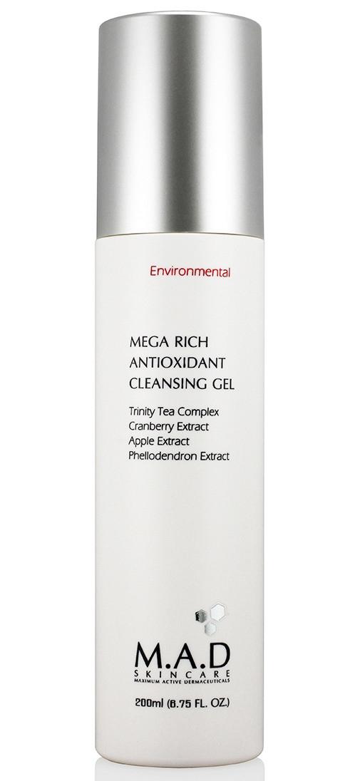 Фото - M.A.D SkinCare Гель Mega Rich Antioxidant Cleansing Gel Очищающий, Обогащенный Антиоксидантами, 200 мл topicrem гель pv cleansing gel очищающий с антимикотическим эффектом pv 200 мл