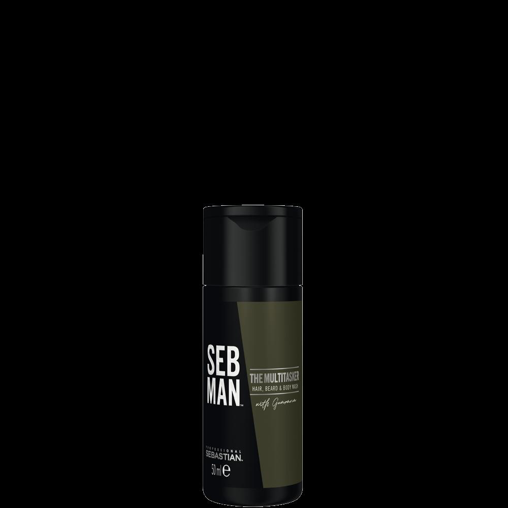 Sebastian Men Шампунь 3 в 1 для Ухода за Волосами, Бородой и Телом The Multitasker, 50 мл