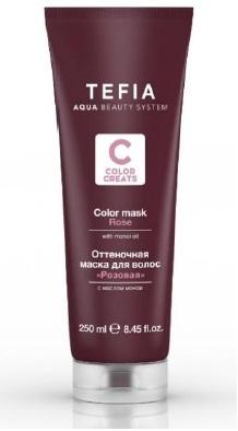 цена на Tefia Оттеночная Маска для Волос Розовая Color Creats, 250 мл
