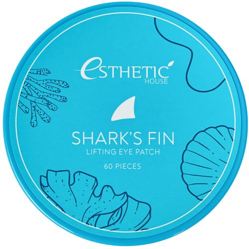 Esthetic House Патчи Shark's Fin Lifting Eye Patch Гидрогелевые для Глаз Плавник Акулы, 60 шт гидрогелевые патчи для кожи вокруг глаз 4 пары rodial snake 8 мл