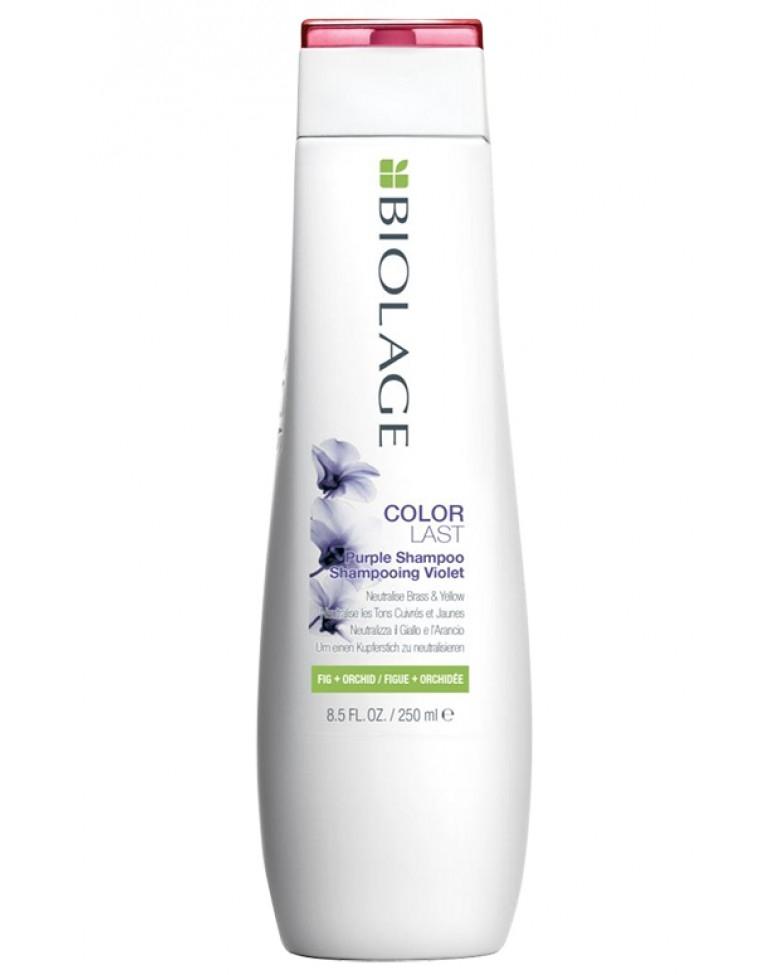 MATRIX Шампунь Matrix Biolage Colorlast Purple Shampoo Фиолетовый для Нейтрализации Желтизны с Экстрактом Орхидеи и Инжира, 250 мл кремстайлинг biolage r a w для контроля над завитком 250 мл matrix biolage r a w