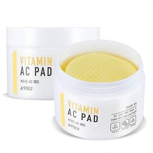 A'Pieu Пилинг-Диски Vitamin AC Pad с AHA и BHA Кислотами и Витаминами, 35 шт
