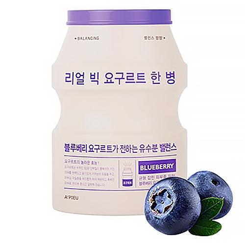 Фото - A'Pieu Маска Real Big Yogurt One-Bottle Blueberry Тканевая Йогуртовая с Экстрактом Голубики, 21г a pieu тканевая маска real big yogurt one bottle mango с экстрактом манго 21 г