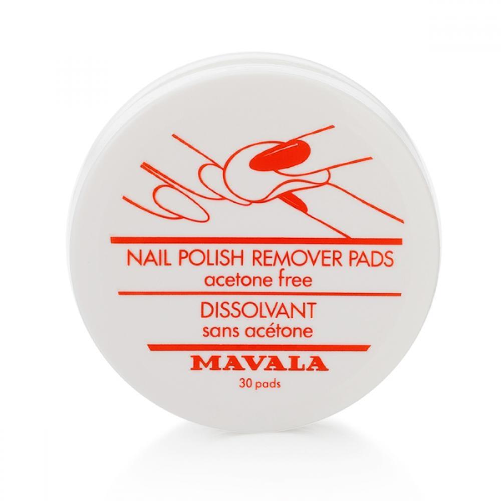 Mavala Салфетки Nail Polish Remover Pads для Снятия Лака, 30 шт
