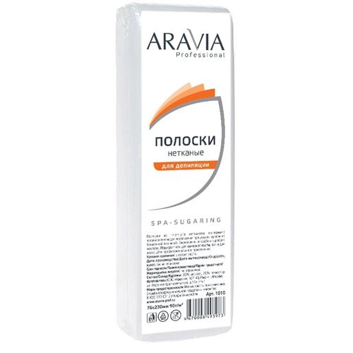 ARAVIA Полоски SPA-Sugaring Нетканые для Депиляции, 76*230 мм, 90 г/м, 100 шт/уп