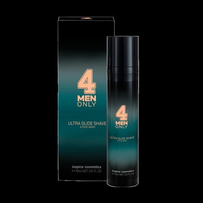 Janssen Гель-Крем Ultra Glide Shave & Face Wash 4 Men Only Ультрамягкий для Умывания и Бритья, 75 мл men гель без пены для умывания легкого бритья и увлажнения academie 150 мл
