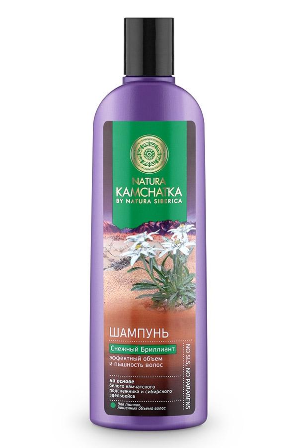 Natura Siberica Шампунь Снежный Бриллиант Эффектный Объем и Пышность Волос, 280 мл