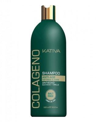 Kativa Коллагеновый Восстанавливающий Шампунь для Всех Типов Волос Collageno, 500 мл kativa collageno conditioner кондиционер для волос восстанавливающий с коллагеном 500 мл