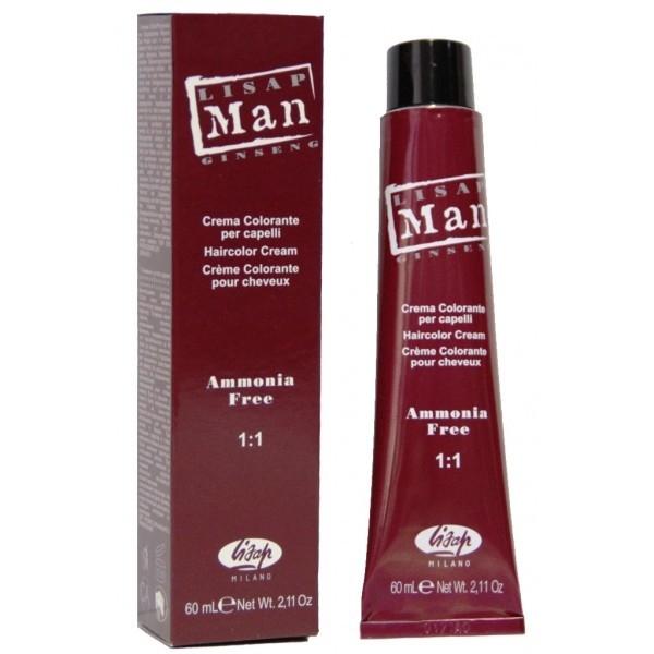 Lisap Безаммиачный Крем-Краситель для Волос Man Color 3 Темно-Каштановый, 60 мл