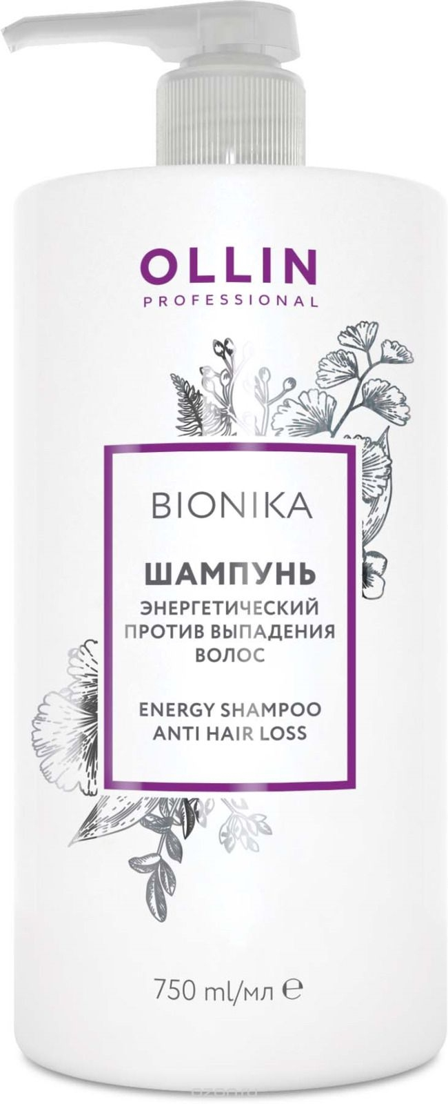 OLLIN PROFESSIONAL Шампунь BioNika Energy Shampoo Anti Hair Loss Энергетический Против Выпадения Волос, 750 мл ollin professional шампунь bionika energy shampoo anti hair loss энергетический против выпадения волос 750 мл