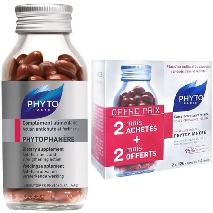 Phyto БАД Phytophanere для Волос и Ногтей Фитофанер, 120 Кап*2
