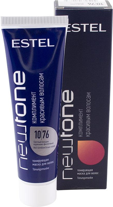 ESTEL Маска для Волос Тонирующая Newtone 10/76 Светлый Блондин Коричнево-Фиолетовый, 60 мл цена