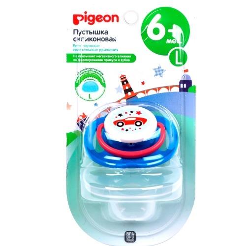Pigeon Пустышка Car 6 месяцев Размер L