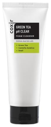 Coxir Очищающая Пенка с Зеленым Чаем Green Tea pH Clear Foam Cleanser, 150 мл