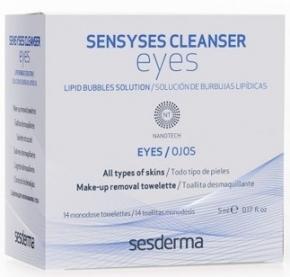 Sesderma Салфетки Sensyses Cleancer Eyesдля Снятия Макияжа с Глаз, 14 шт.