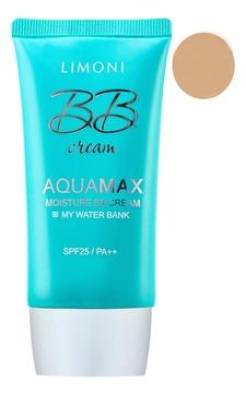 Limoni ББ-Крем Aquamax Moisture BB Cream №2 SPF25/PA++ Увлажняющий для Лица тон 2, 40 мл etude house mineral bb cream blooming fit spf30 крем бб минеральный тон n02 60 г