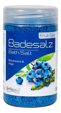Camillen 60 Соль Badesalz Blaubeere-Alge для Ножных Ванн Черника и Водоросли, 350 мл соль для ножных ванн расслабляющая киви и мелисса badesalz kiwi melisse соль 1350г
