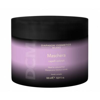 Lisap Маска для Защиты Цвета Окрашенных Волос с Keratin Complex - DCM Mask for Coloured Hair, 500 мл