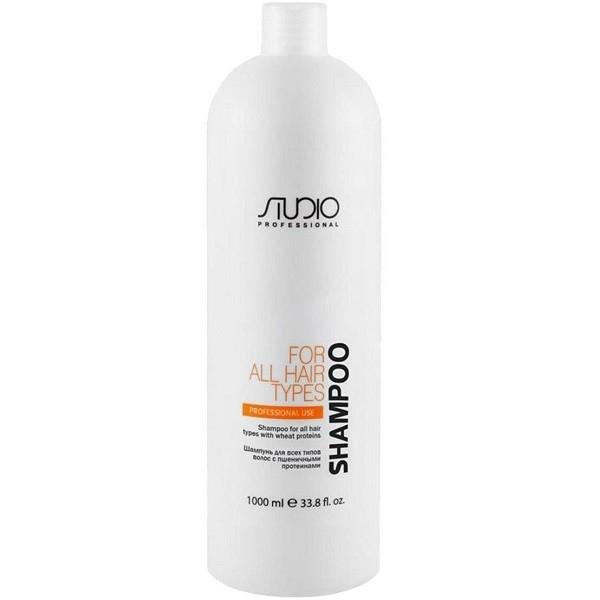 Kapous Шампунь Studio Wheat Protein Shampoo для Всех Типов Волос с Пшеничными Протеинами Studio Professional, 1000 мл цена 2017