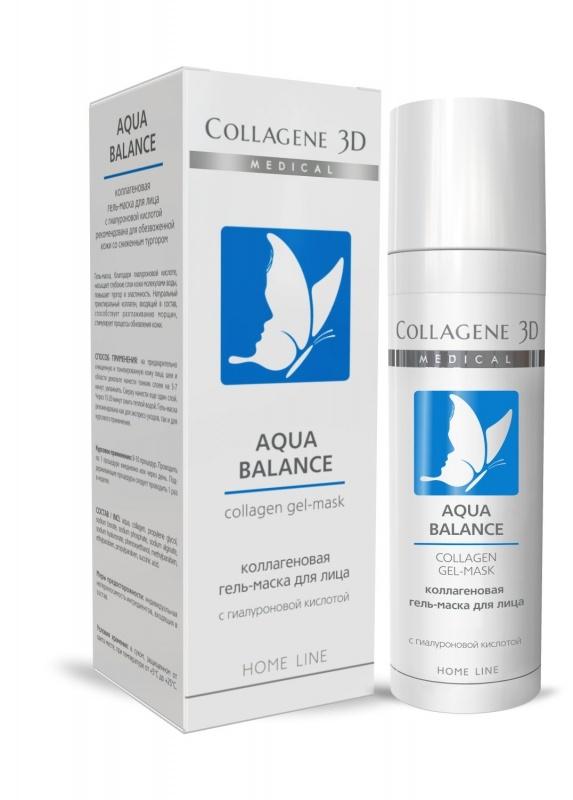 Collagene 3D Гель-маска с гиалуроновой кислотой Aqua Balance, 30 мл