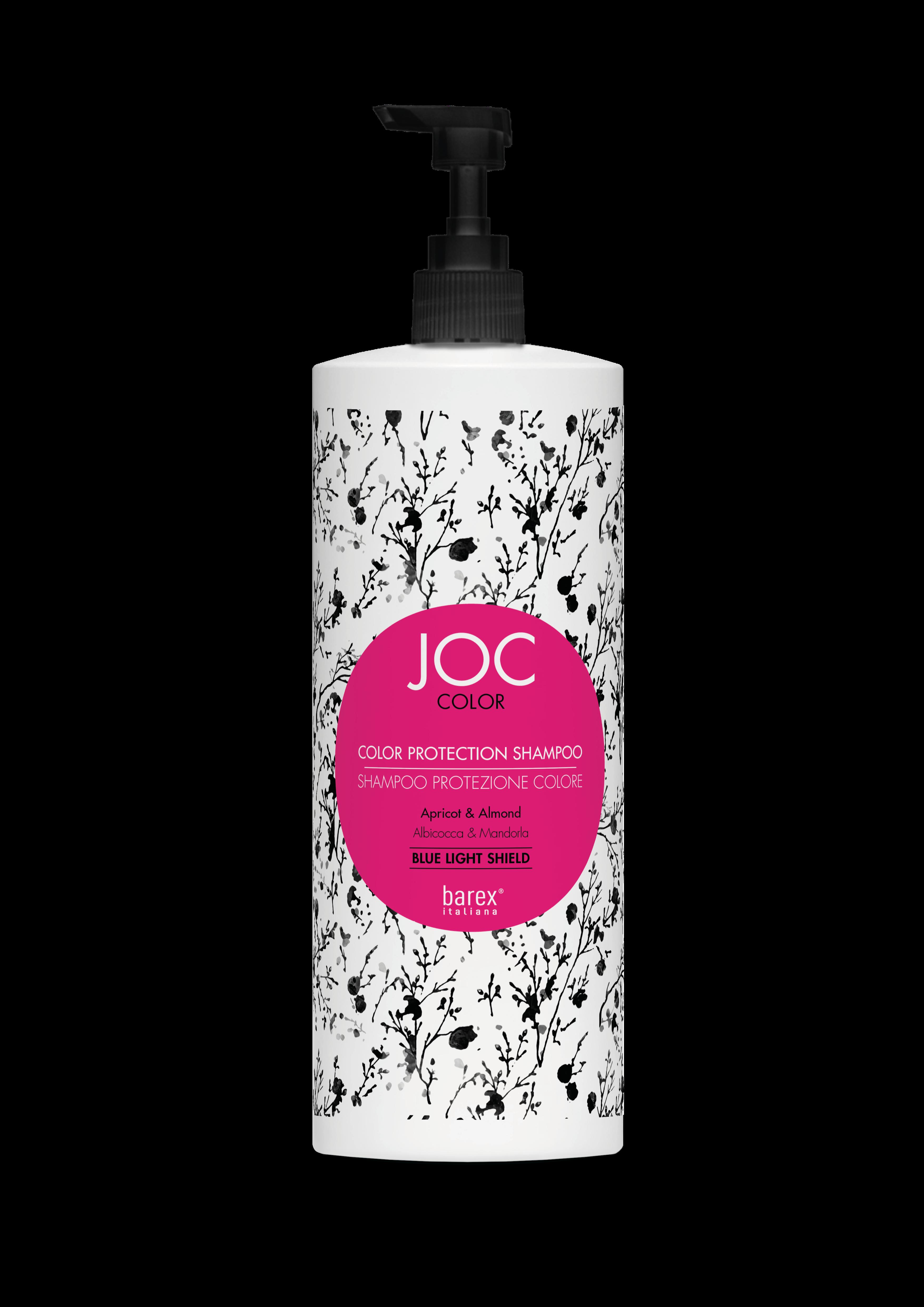 Barex Шампунь JOC Color Protection Shampoo Стойкость Цвета с Абрикосом и Миндалем, 1000 мл
