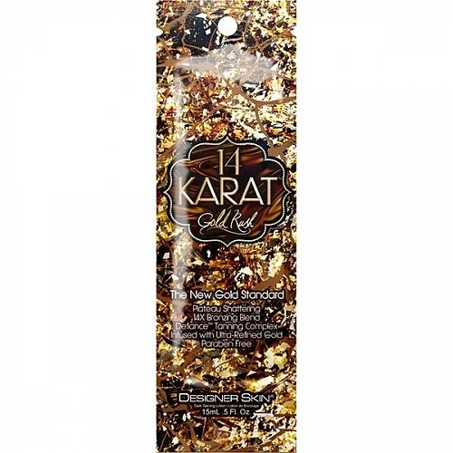 Designer Skin 14Х Лосьон с Гиалуроновой Кислотой и Стойким Бронзирующим Комплексом 14 Karat Gold Rush, 15 мл