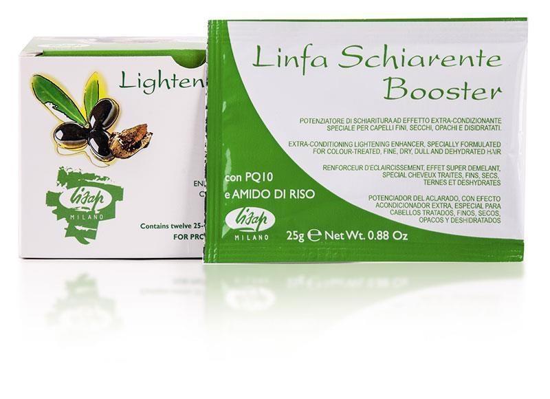 Lisap Порошковый Усилитель Осветления Волос Linfa Schiarente Booster Lightener powder, 12*25г