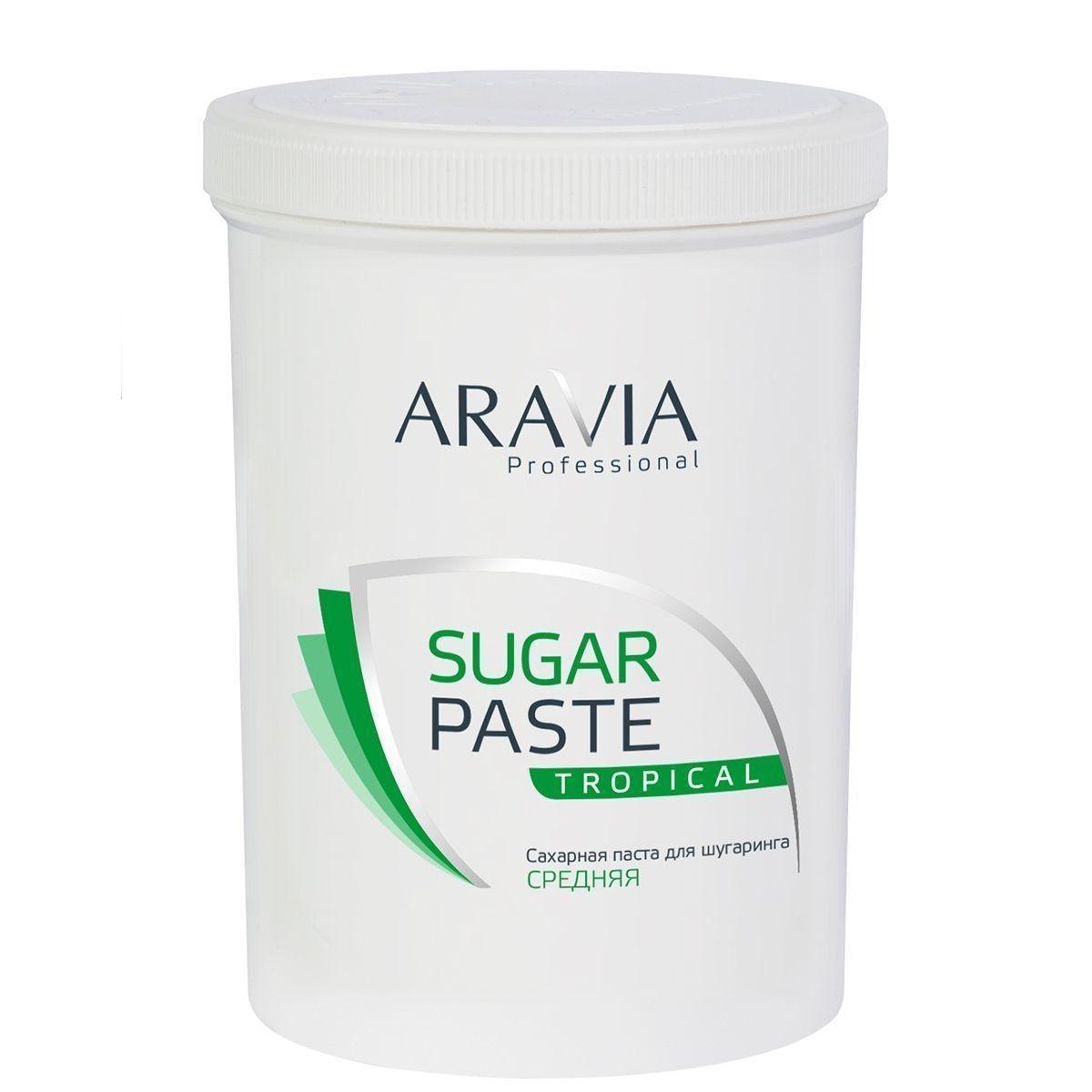 ARAVIA Сахарная Sugar Paste Паста для Депиляции Тропическая Средней Консистенции, 1500г