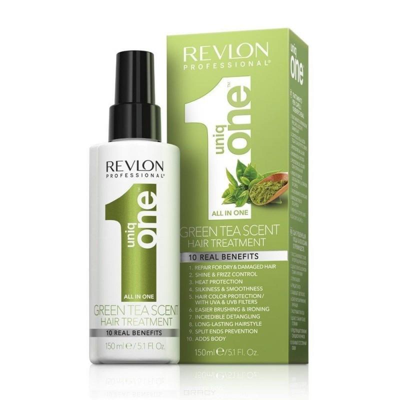 REVLON Спрей-Маска для Всех Типов Волос Uniq One Зеленый Чай, 150 мл revlon uniq