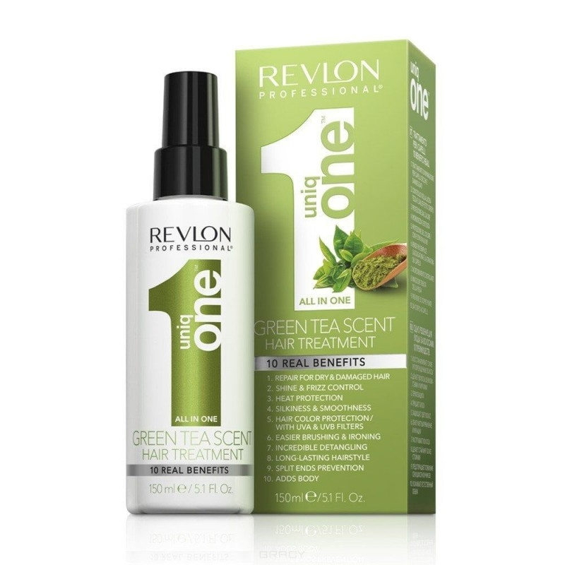REVLON Спрей-Маска для Всех Типов Волос Uniq One Зеленый Чай, 150 мл