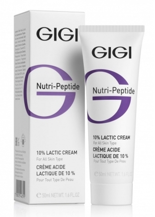 GIGI Крем Пептидный Увлажняющий с 10% Молочной Кислотой, 50 мл