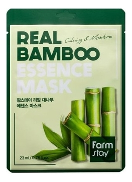 FarmStay Маска Real Bamboo Essence Mask Тканевая для Лица с Экстрактом Бамбука, 23 мл farmstay тканевая маска для лица с экстрактом персика real peach essence mask 23 мл