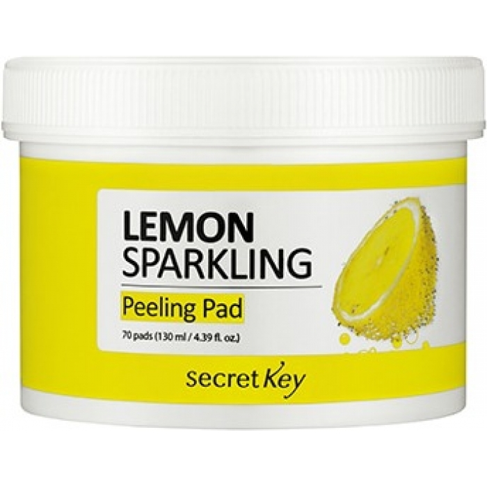 Secret Key Пилинг-Диски Lemon Sparkling Peeling Pad для Лица, 70 шт
