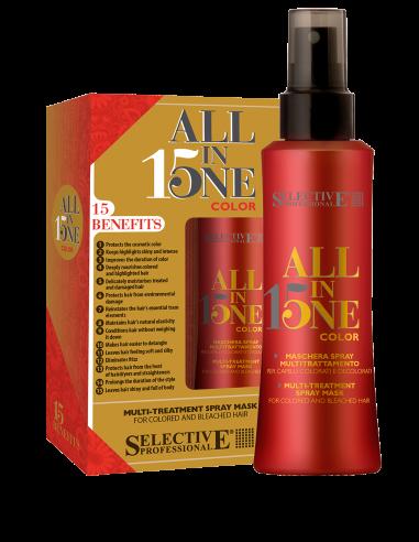 Selective Professional ALL IN ONE Маска-Спрей 15 в 1 для Окрашенных Волос, 150 мл маска спрей 15 в 1 для окрашенных волос all in one selective 150 мл
