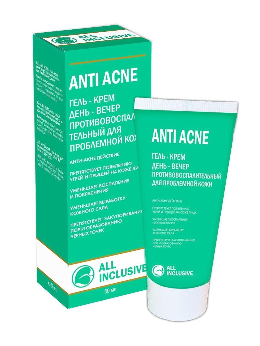 All Inclusive Гель-Крем Anti Acne День - Вечер Противовоспалительный для Проблемной Кожи, 50 мл