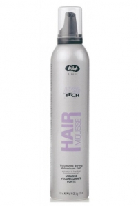 Lisap Мусс Сильной Фиксации для Создания Объема High Tech Hair Mousse Volumizing Strong, 300 мл мусс для объема без отдушки легкой фиксации vieno sensitive volumizing mousse light