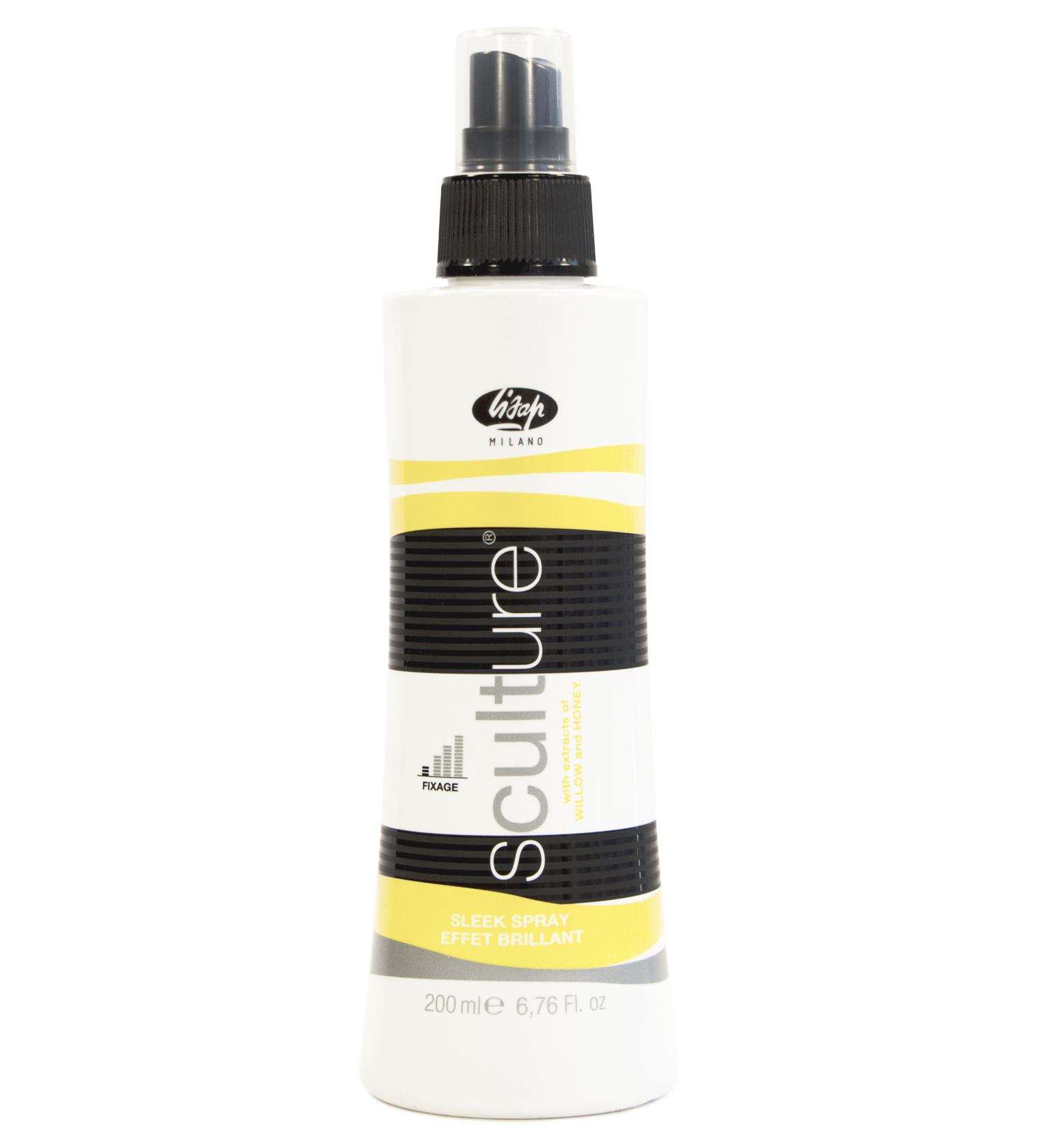 Lisap Спрей-Блеск для Волос Эластичной Фиксации Sculture Sleek Spray, 200 мл lisap milano fashion gloss shine спрей блеск для волос 250 мл