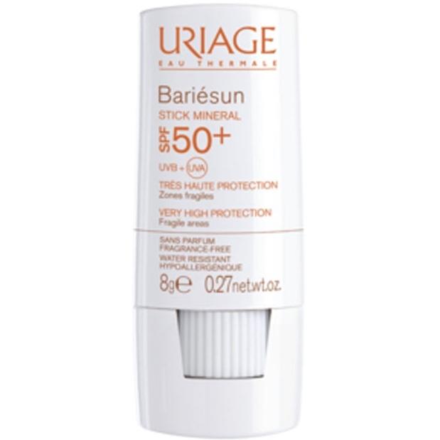Uriage Стик Bariesun Минеральный для Уязвимых Зон Spf 50+ Барьесан, 8г