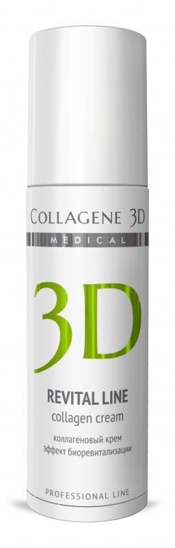 Collagene 3D Крем д/лица REVITAL LINEс восстанавливающим комплексом, альтернатива инъекционной биоревитализации, 150 мл dr g revital enhancer toner