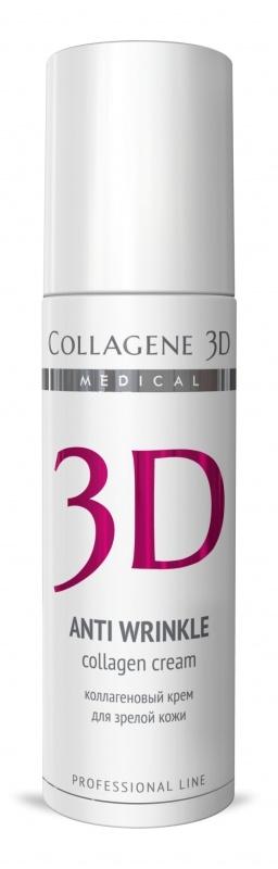 Collagene 3D Крем для лица с плацентолью, коррекция возрастных изменений для зрелой кожи Anti Wrinkle, 150 мл collagene 3d гель маска для лица с плацентолью коррекция возрастных изменений для зрелой кожи anti wrinkle 130 мл