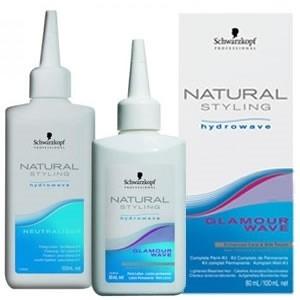 Schwarzkopf Natural Glamour Комплект для Химической Завивки Труднозавиваемых Волос №0, 80+100 мл