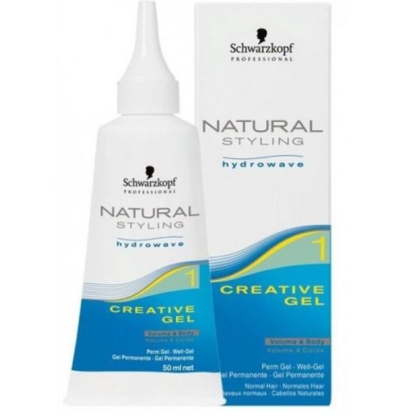 Фото - Schwarzkopf Natural Creative Креативный Гель для Нормальных Волос #1, 50 мл schwarzkopf natural glatt средство для перманентного выпря мления средне вьющихся волос 1 80 мл