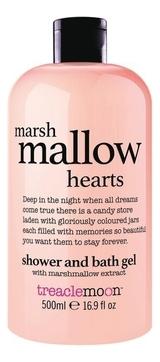 Treaclemoon Гель Marshmallow Hearts Bath & Shower Gel для Душа Маршмеллоу, 500 мл зефир и пастила corniche маршмеллоу большие mega marshmallow бело розовые 300 г