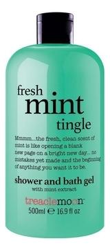 Treaclemoon Гель Fresh Mint Tingle Bath & Shower Gel для Душа Свежая Мята, 500 мл tropiclean fresh breath gel vanilla mint гель для собак для чистки зубов ваниль и мята 59 мл