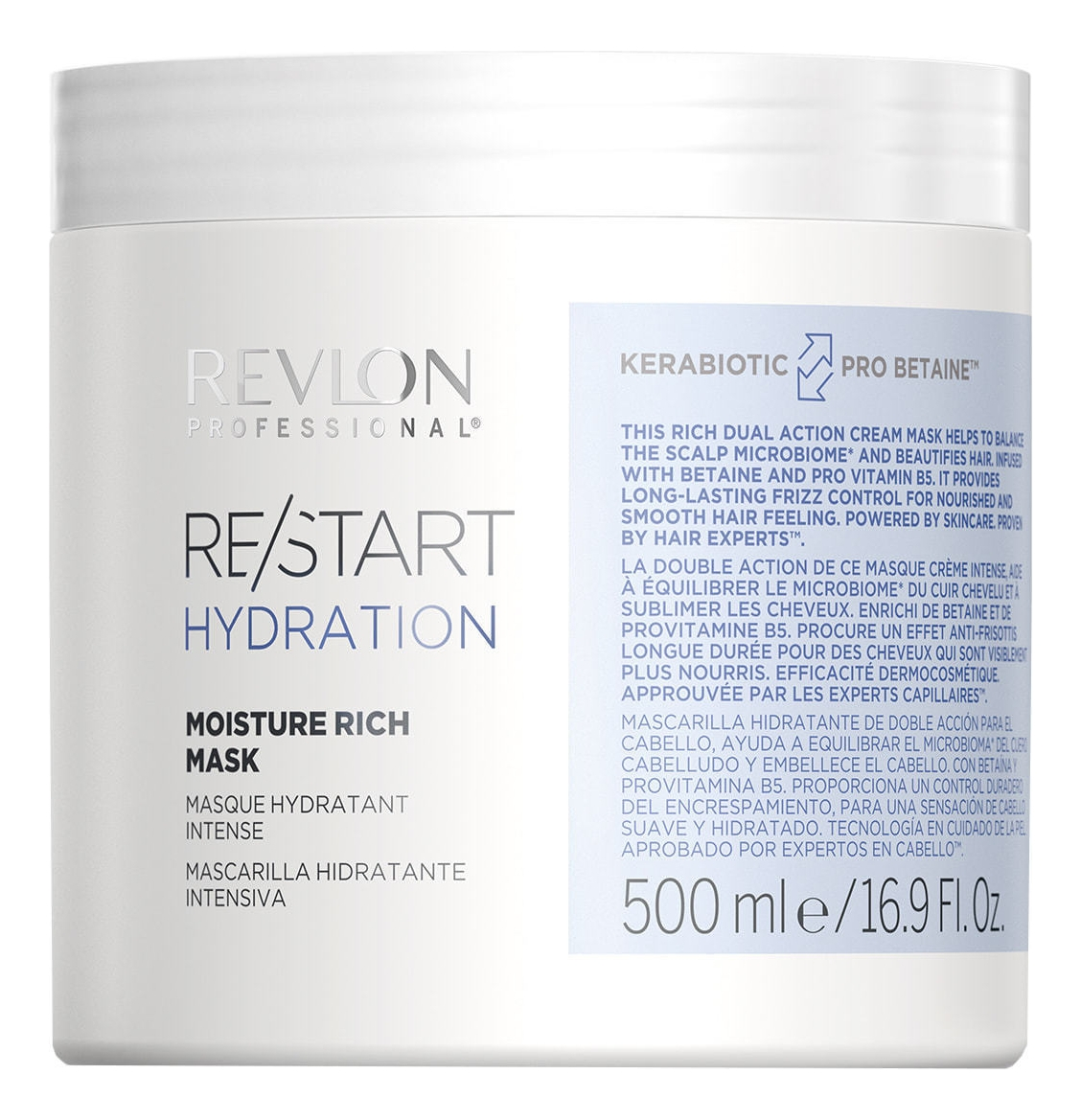 Фото - REVLON Маска Restart Hydration Moisture Rich Mask Интенсивно Увлажняющая, 500 мл medius двойная маска увлажняющая moisture focus 25 мл