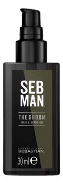 Sebastian Men Масло The Groom для Ухода за Волосами и Бородой, 30 мл alpha homme бальзам для ухода за бородой style 30 мл