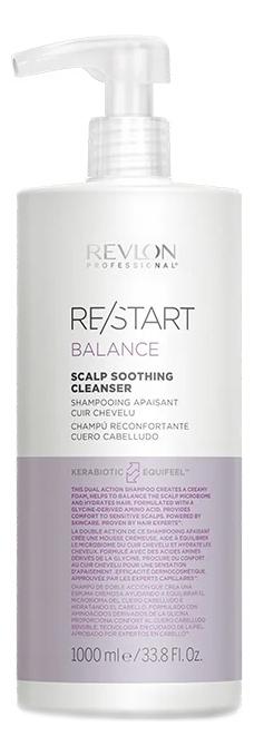 REVLON Шампунь Restart Balance Scalp Soothing Cleanser Мягкий для Чувствительной Кожи Головы, 1000 мл
