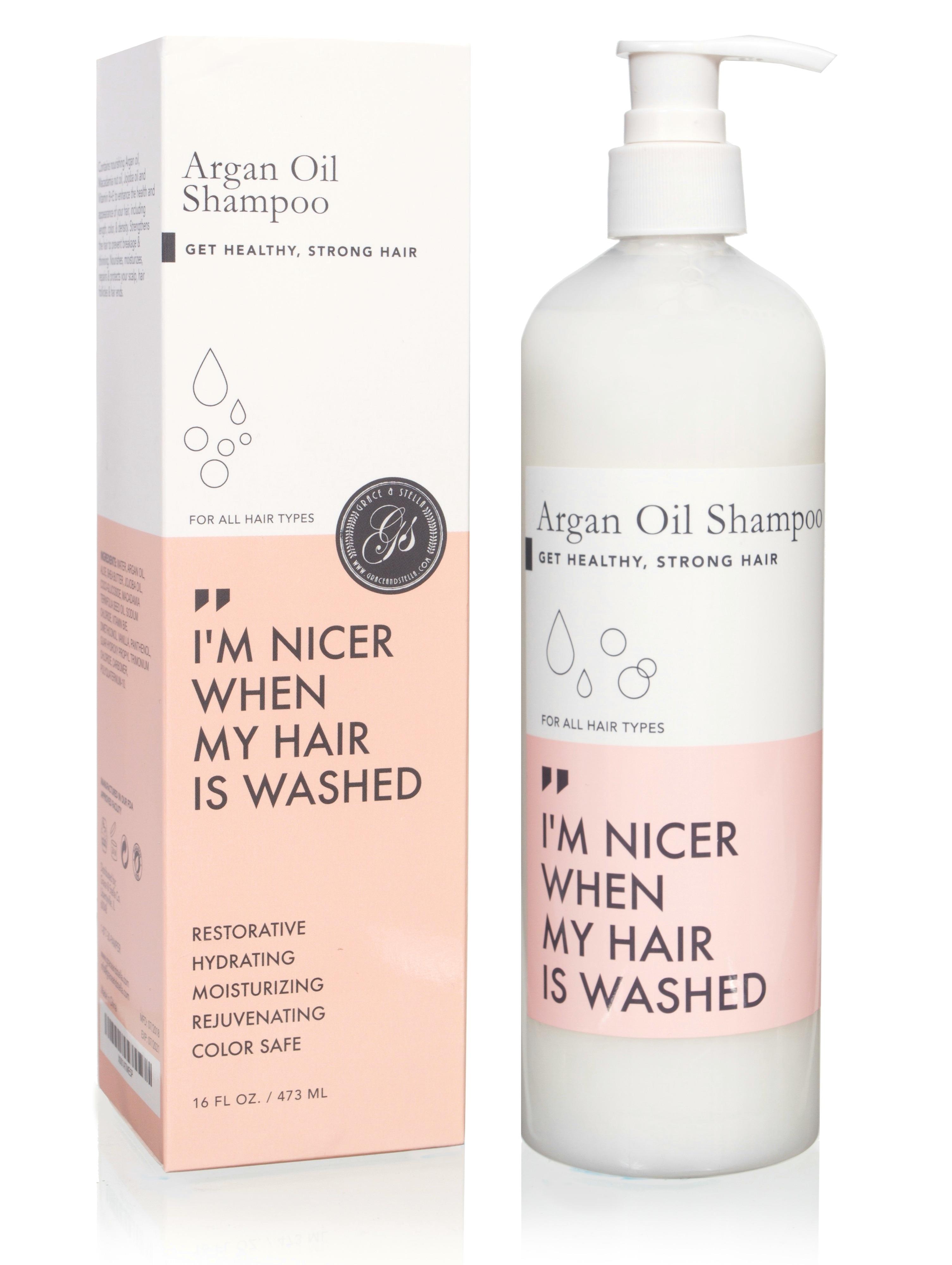 Grace and Stella CO Шампунь Питательный  для Волос с Маслом Арганы Organic Argan Oil Shampoo, 473 мл