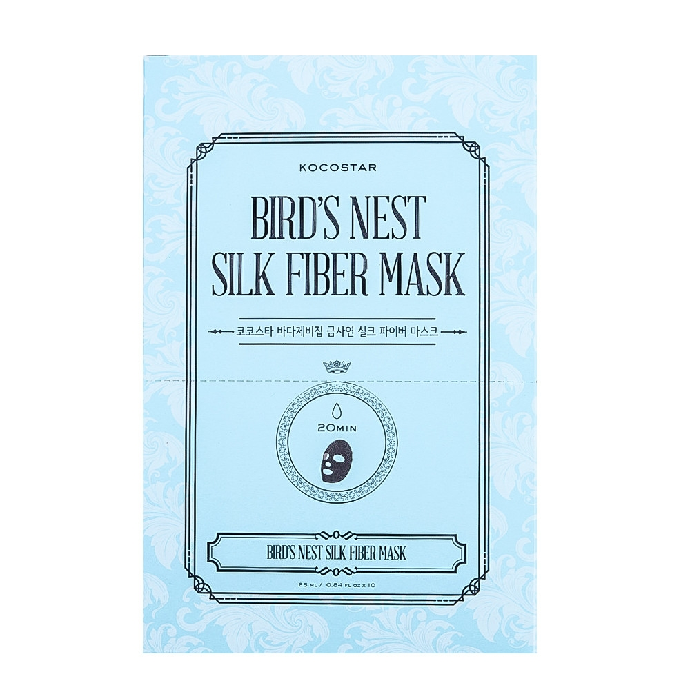 Kocostar Маска Bird's Nest Silk Fiber Mask Дерматропная для Лица Гнездо Салангана, 25 мл