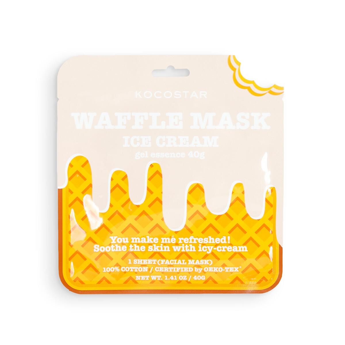 Kocostar Маска Waffle Mask Ice Cream Освежающая и Смягчающая Вафельная для Лица Сливочное Мороженое
